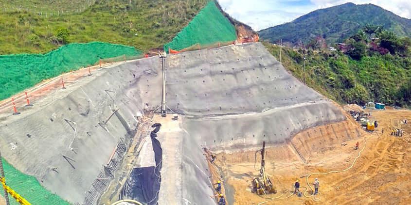 Self Drilling Anchor for Alejandría Hydropower Plant